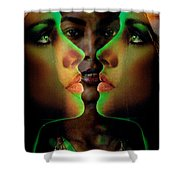 Face 2 Face Shower Curtain