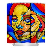 Face 742 Shower Curtain