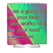 Face And Soul Definitions Shower Curtain