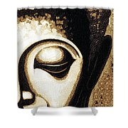 Face Color Lino Shower Curtain