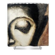 Face Embossed Shower Curtain