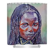 Face From Sudan  1 Shower Curtain