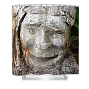Face In A Tree Shower Curtain