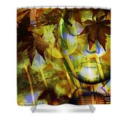 Face In The Rock Dreams Of Tulips Shower Curtain