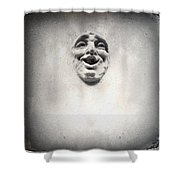 Face In The Wall Shower Curtain