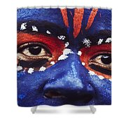 Face Of Carnival Shower Curtain by Ian Cumming