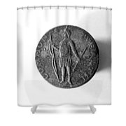 Face Of Copper Cent, 1788 Shower Curtain