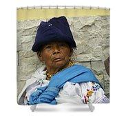 Face Of Ecuador Woman At Cotacachi Shower Curtain