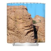 Face Of The Monolith Shower Curtain