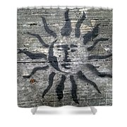 Face Of The Sun Shower Curtain