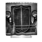 Face Of Time Shower Curtain