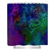 Face Mandelbulb Fractal Shower Curtain