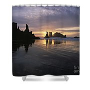 Face Rock Beach Bandon Oregon Shower Curtain