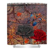 Face The Thorns  Shower Curtain