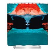 Face To Face - Abstract Art By Sharon Cummings Shower Curtain