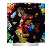 Face To Face.. Shower Curtain