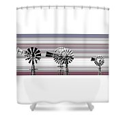 Face To The Wind Shower Curtain