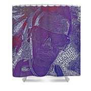 Face Typography  Shower Curtain