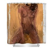 Faceless Girl Shower Curtain