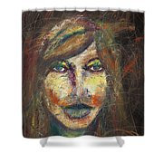 Faces 18 Shower Curtain