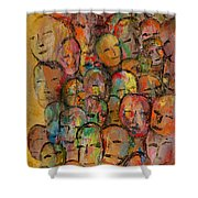 Faces In The Crowd Shower Curtain
