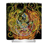 Faces Of Life Shower Curtain