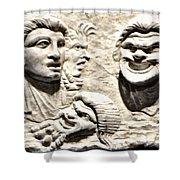 Faces Of Pompeii Shower Curtain