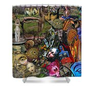 Faces Of The Goddess Shower Curtain