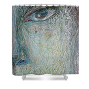 Faces - Right Close Shower Curtain