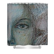 Faces - Right Shower Curtain