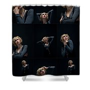 Facial Expression Shower Curtain by Ralf Kaiser