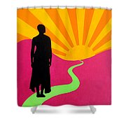 Facing East - A New Dawn Shower Curtain