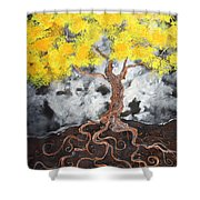 Facing Reality Shower Curtain