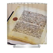 Facsimile Of A 13th Century Koran Shower Curtain