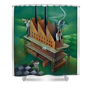 Factory-2 Shower Curtain