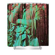 Fade Into The Woods Shower Curtain