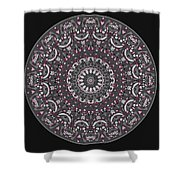 Faded Cedar No. 1 Mandala Shower Curtain