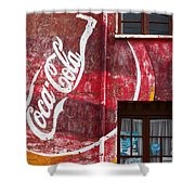 Faded Coca Cola Mural 1 Shower Curtain