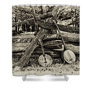 Faded Country Time Banjos Shower Curtain