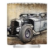Faded Ford Coupe Shower Curtain