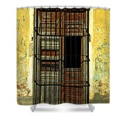 Faded Wooden Shutters In Cuba Shower Curtain