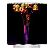 Faded Long Stems Shower Curtain