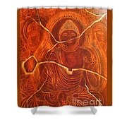 Faded Peace_sold Shower Curtain