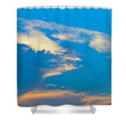 Fading Clouds Shower Curtain