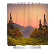 Fading Light Shower Curtain