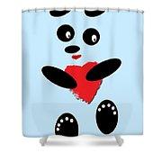 Fading Like A Flower. Panda In Love. 02 Shower Curtain