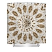 Fading Poem Mountain Shower Curtain