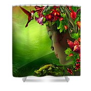 Fae In The Flower Hat Shower Curtain