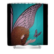 Faerie And Butterfly Shower Curtain