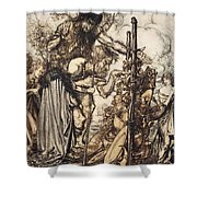 Fafner Hey! Come Hither, And Stop Shower Curtain